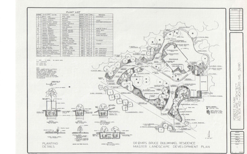Bullwinkel Residence Master Landscape Plan