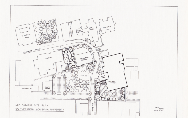 Southeastern Louisiana College Mid Campus Site Plan