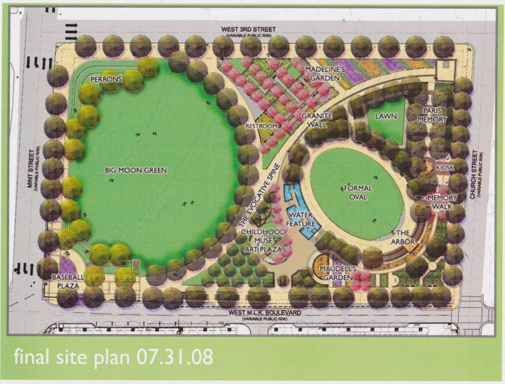 Romare Bearden Final Master Plan- Designed by LandDesign, Inc.