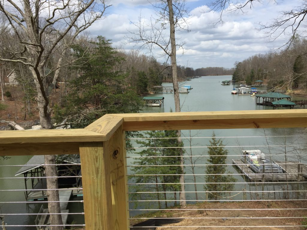 Sterrett Residence -View from back deck to Lake Norman